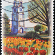 NEW ZEALAND - CIRCA 1996: A stamp printed in New Zealand shows Clock Tower in Seymour Square Tower Blenheim, circa 1996 - Stok fotoraf