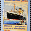 AUSTRALIA - CIRCA 2004: A stamp printed in Australia shows Saw Svill Lines, circa 2004 - Stock Photo