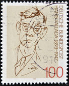 GERMANY - CIRCA 1993: A stamp printed in Germany shows to Rudolf Friedrich Wilhelm Ditzen ( Hans Fallada), circa 1993 — Stock Photo