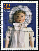 UNITED STATES OF AMERICA - CIRCA 1997 : Stamp printed in USA shows The Columbian Doll, circa 1997 — Stock Photo