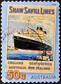 AUSTRALIA - CIRCA 2004: A stamp printed in Australia shows Saw Svill Lines, circa 2004 — Zdjęcie stockowe