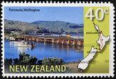 NEW ZEALAND - CIRCA 1997: A stamp printed in New Zealand shows Paremata, Wllington, circa 1997 — Stock Photo