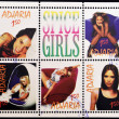 Royalty-Free Stock Photo: ADJARA - CIRCA 1998: Collection stamps printed in Adjara (Georgia) shows Spice girls, circa 1998