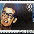 GERMANY - CIRCA 1988:  stamp printed in Germany shows an image of Buddy Holly, circa 1988. - Foto de Stock  