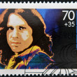 GERMANY - CIRCA 1988: A stamp printed in Germany shows image of Jim Morrison, circa 1988 - Stock Photo
