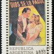 "Stock Photo: ARGENTINA - CIRCA 1992: A stamp printed in Argentina dedicated to cinema shows poster for the film ""God bless"", circa 1992"