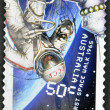 AUSTRALIA - CIRCA 2007: A stamp printed in Australia shows first space walk 1965, circa 2007 — Stock Photo