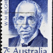 Stock Photo: AUSTRALI- CIRC1971: stamp printed in Australishows William Morris Hughes, circ1971