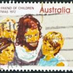 AUSTRALIA - CIRCA 1972: stamp printed in Australia, shows Jesus friend of Children, circa 1972 — Stock Photo
