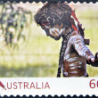 AUSTRALIA - CIRCA 2011: A stamp printed in Australia, shows Australian Aboriginal Child with skin painted in the traditional way, circa 2011 — Stock Photo #11611302