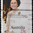 AUSTRALIA - CIRCA 1982: A stamp printed in Australia, shows Birthday of her majesty Queen Elizabeth II, circa 1982 — Stock Photo