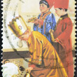 AUSTRALIA - CIRCA 1986: stamp printed by Australia, shows three children dressed as the Magi in the Christmas school function, circa 1986 — Stock Photo #11611327