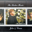 BURYATIA - CIRCA 2000: Collection stamps dedicated to the Princess Diana of Wales with his friend Elton John, and he played at his funeral, circa 2000 — Stock Photo