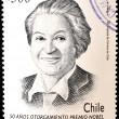 CHILE - CIRCA 1995: A stamp printed in Chile shows Gabriela Mistral, circa 1995 — Stock Photo