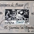 "Stock Photo: SPAIN - CIRCA 1981: A stamp printed in Spain shows painting by Pablo Picasso ""Guernica"", circa 1981"