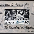 "SPAIN - CIRCA 1981: A stamp printed in Spain shows painting by Pablo Picasso ""Guernica"", circa 1981 — Stock Photo #11611391"