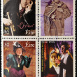 Stock Photo: IRELAND - CIRC2000: Four stamps dedicated to Oscar Wilde, most famous writer, poet and playwright Irish, circ2000