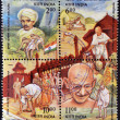 INDI- CIRC1998: Four stamps dedicated to MahatmGandhi, circ1998 — Stock Photo #11611417
