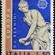 Stock Photo: ITALY - CIRC1974: stamp printed in Italy shows David, baroque sculpture by GiLorenzo Bernini, circ1974