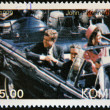 KOMI - CIRCA 1999: A stamp printed in Komi shows John Fitzgerald Kennedy, circa 1999 — Stock Photo