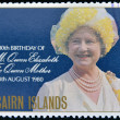 Stock Photo: PITCAIRN ISLANDS - CIRCA1980: stamp printed in Pitcairn islands shows portrait of Queen Mother, circ1980