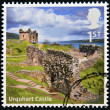 UNITED KINGDOM - CIRCA 2012: A stamp printed in Great Britain shows Urquhart Castle, circa 2012 - Stock Photo