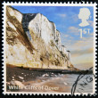 UNITED KINGDOM - CIRCA 2012: A stamp printed in Great Britain shows White Cliffs of Dover, circa 2012 - Stock Photo