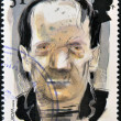 UK - CIRCA 1997: A stamp printed in United Kingdom shows a portrait of Frankestein, circa 1997 — Stock Photo