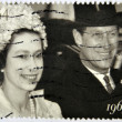UNITED KINGDOM- CIRCA 2007: A stamp printed in Great Britain shows Queen Elizabeth II and Duke of Edinburgh, circa 2007 — Stock Photo
