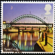 Stock Photo: UNITED KINGDOM - CIRC2012: stamp printed in Great Britain shows Tyne Bridge, circ2012