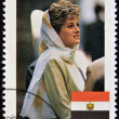SOMALIA - CIRCA 1998: A stamp printed in Somalia  commemorative  of first anniversary of the death of Princess Diana, Lady Di, circa 1998 - Stock Photo