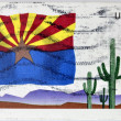 UNITED STATES OF AMERICA - CIRCA 2008: A stamp printed in USA dedicated to Arizona, circa 2008 — Stock Photo