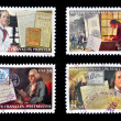 UNITED STATES OF AMERICA - CIRCA 2006: Collection stamps printed in USA shows Benjamin Franklin, circa 2006 - Foto de Stock  