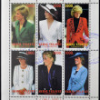 Stock Photo: TURKMENISTAN - CIRCA1997: stamps printed in turkmenistan, shows set of stamps showingsix stamps with pictures of DianPrincess of Wales, Lady Di, circ1997