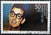 GERMANY - CIRCA 1988: stamp printed in Germany shows an image of Buddy Holly, circa 1988. — Stock Photo
