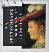 GERMANY - CIRCA 2006: A stamp printed in Germany shows image commemorating the life of Rembrandt, circa 2006 — Stock Photo