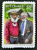 AUSTRALIA - CIRCA 2010: A stamp printed in australia shows Kokoda Veterans, circa 2010. — Stock Photo