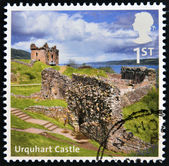 UNITED KINGDOM - CIRCA 2012: A stamp printed in Great Britain shows Urquhart Castle, circa 2012 — Stock Photo