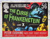 UNITED KINGDOM - CIRCA 2008: A stamp printed in Great Britain shows the curse of Frankenstein, circa 2008 — Stock Photo
