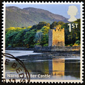 UNITED KINGDOM - CIRCA 2012: A stamp printed in Great Britain shows Narrow Water Castle, circa 2012 — Stock Photo