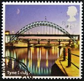 UNITED KINGDOM - CIRCA 2012: A stamp printed in Great Britain shows Tyne Bridge, circa 2012 — Stock Photo