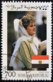 SOMALIA - CIRCA 1998: A stamp printed in Somalia commemorative of first anniversary of the death of Princess Diana, Lady Di, circa 1998 — Stock Photo