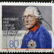 GERMANY - CIRCA 1986: A stamp printed in Germany showing Friedrich der Gross, circa 1986 - Stock Photo