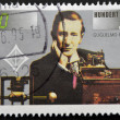GERMANY - CIRC1995: stamp printed in Germany shows Guglielmo Marconi and Transmitting Equipment, Centenary of Radio, circ1995 — Stock Photo #11755427