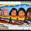 Stock Photo: CANAD- CIRC1999: stamp printed in Canadshows Creation of Nunavut Territory, circ1999