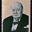 Stock Photo: COOK ISLANDS - CIRC1974 : Stamp printed in Cook Islands , shows image of sir Winston Churchill, 1874-1974, circ1974
