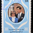 DOMINIC- CIRC1981: stamp printed in Dominiccelebrating Royal Wedding of Prince Charles and Lady DianSpencer, circ1981 — Stockfoto #11755568