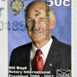 NEW ZEALAND - CIRC2007: stamp printed in New Zealand shows Bill Boyd, Rotary International president, circ2007 — Stockfoto #11755749
