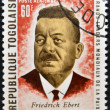 REPUBLIC OF TOGO - CIRCA 1969: A stamp printed in Togo dedicated to great world leaders of peace, shows Friedrich Ebert, circa 1969 - Stok fotoğraf