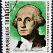 REPUBLIC OF TOGO - CIRCA 1969: A stamp printed in Togo dedicated to great world leaders of peace, shows George Washington, circa 1969 - Stok fotoğraf